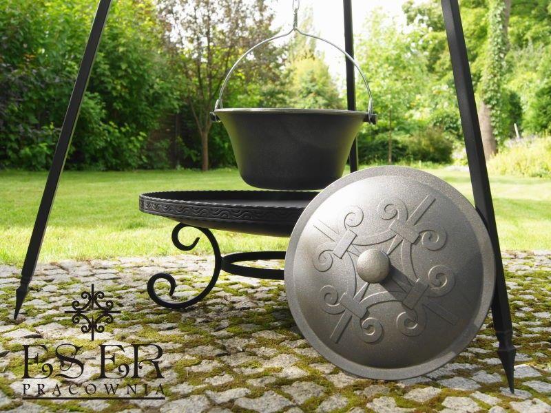 ZESTAW grill palenisko kociołek żeliwny 7l - ES-ER zdjęcie 8