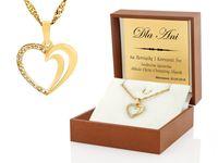 PREZENT Złote SERCE 585 GRAWER dla niej URODZINY ŚWIĘTA