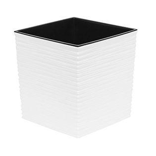 Doniczka JUKA dłuto 40x40 + Wkład biała Lamela