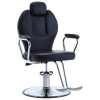 Fotel barberski ze sztucznej skóry, czarny GXP-679879