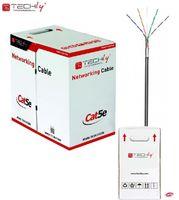 Kabel instalacyjny TechlyPro skrętka Cat5e F/UTP drut CCA zewnętrzna 305m, czarna ITP8-RIS-0305LO