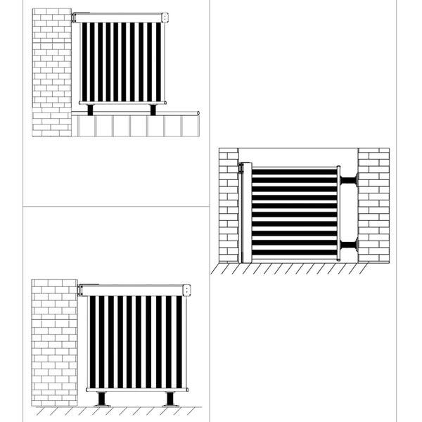 Wielofunkcyjna markiza boczna, balkonowa, 180 x 200 cm, szara GXP-680863 zdjęcie 7