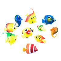 Ozdoba akwariowa Rybki plastikowe pływające 10szt dekroracja do akwarium unosząca się