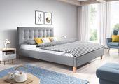 Łóżko tapicerowane DAWID 160X200 + STELAŻ