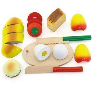 Viga Drewniany Zestaw Śniadaniowy Do Krojenia Deska 2 Noże