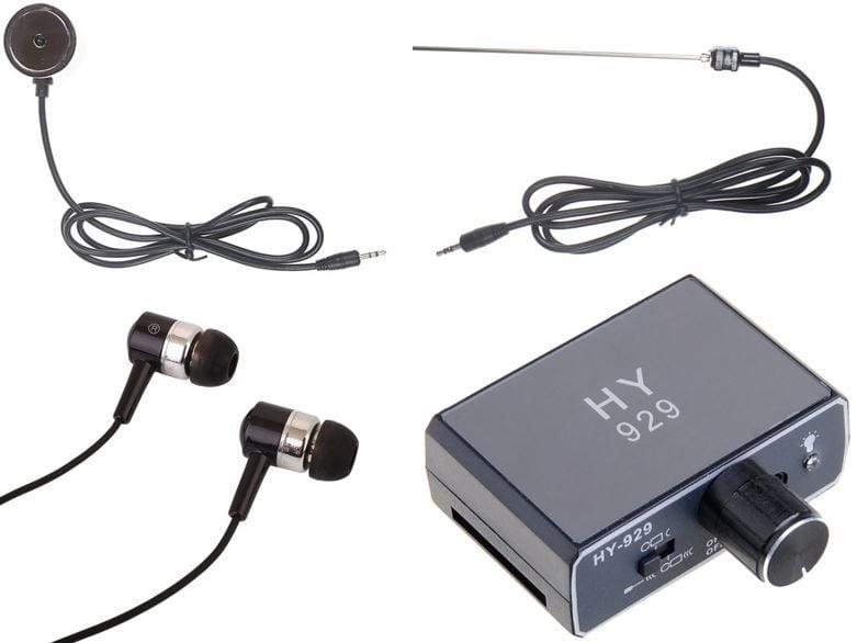 Podsłuch przez ścianę GX220 sejsmiczny z adapterem do nagrywaniem na Arena.pl
