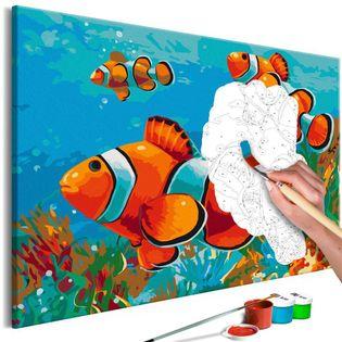 Obraz do samodzielnego malowania - Złote rybki