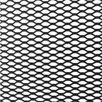Siatka zderzaka aluminiowa  Kamei 8 x 4 mm Czarna