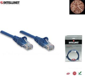 Patch Cord 100% miedź Intellinet Cat.5e UTP, 5m, niebieski ICOC U5EB-050-BL