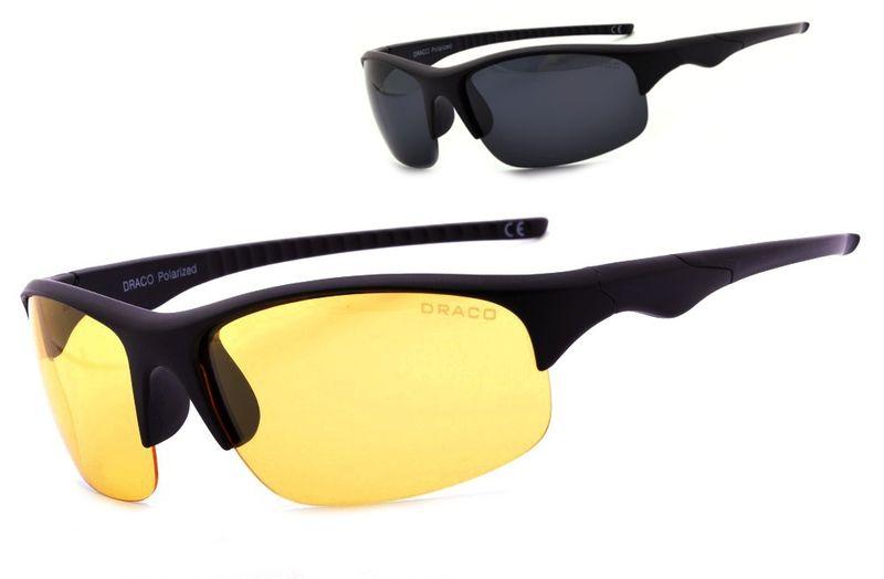 Polaryzacyjne okulary czarne i żółte do biegania na Arena.pl