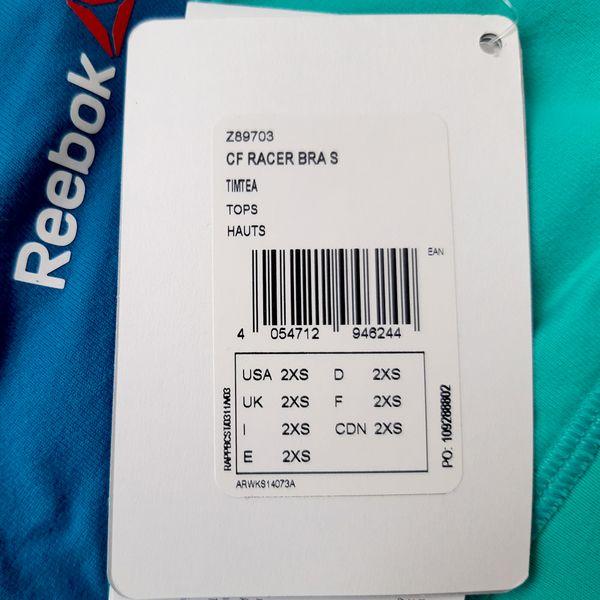 e4ab319f85c6a7 Biustonosz Reebok CrossFit Racer stanik sportowy termoaktywny fitness XL  zdjęcie 4