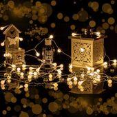Lampki kulki świąteczne 200 LED na baterie i pilota zdjęcie 10