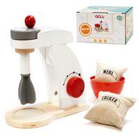 Misker robot kuchenny drewniany + akcesoria biały