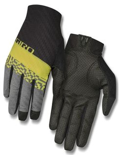 Rękawiczki męskie GIRO RIVET CS długi palec citron green roz. L (obwód dłoni 229-248 mm / dł. dłoni 189-199 mm) (DWZ)