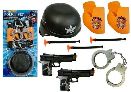 Zestaw Policyjny Pistolety Na Strzałki Kajdanki
