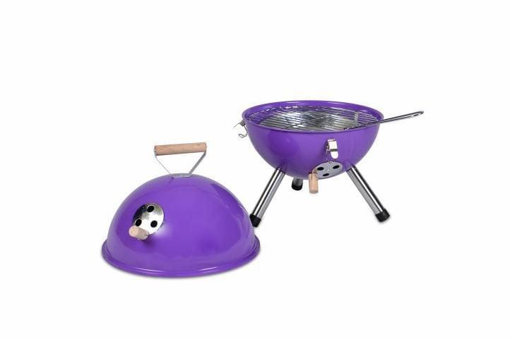 Kolorowy kulisty grill przenośny - fioletowy D00692 zdjęcie 2