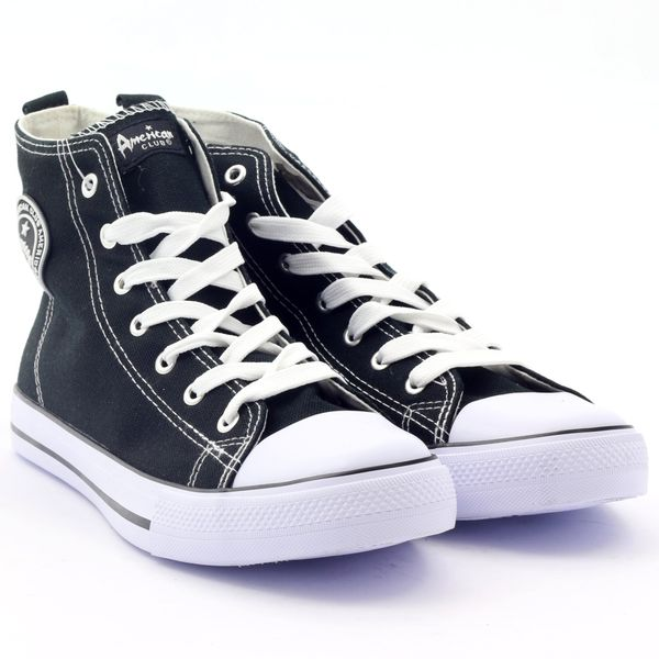 d177e6cc927f5 Trampki wysokie buty męskie czarne American r.43 • Arena.pl