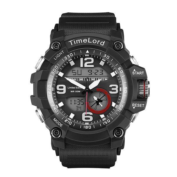 261cfd694e7c85 Najmodniejszy Zegarek Męski Elektroniczny Biały S-SHOCK Dwa Czasy zdjęcie 1