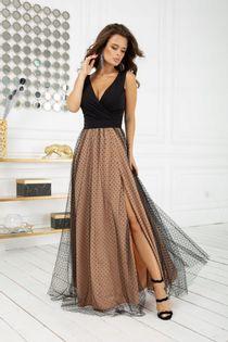 BIC 2218 długa sukienka w groszki 40 WESELE 24h