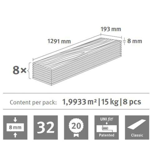 Egger Laminowane Panele Podłogowe, 77,61 M², 8 Mm, Toscolano Oak Light na Arena.pl