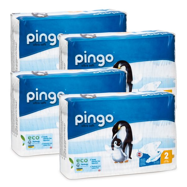 Pieluszki Pingo Ultra Soft 2 MINI 3-6kg 168szt. (4x42) na Arena.pl