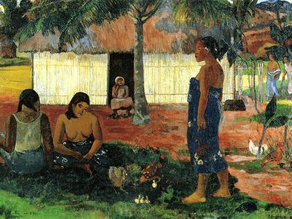Reprodukcja obrazu Why Are You Angry - Paul Gauguin Rozmiar - 40x30