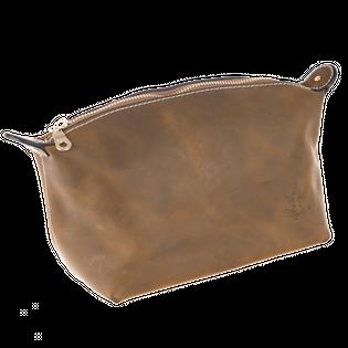 The Brighton Beard - ręcznie robiona kosmetyczka torba ze skóry naturalnej