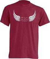 """Koszulka bordowa - """"Pod skrzydłami Jego znajdziesz schronienie"""" L"""