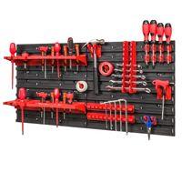 Tablica ścianka narzędziowa do garażu + 20 uchwytów, 2 półki PRO-MIX46