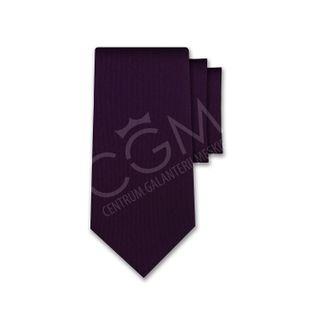 Krawat jednolity fioletowy śliwkowy