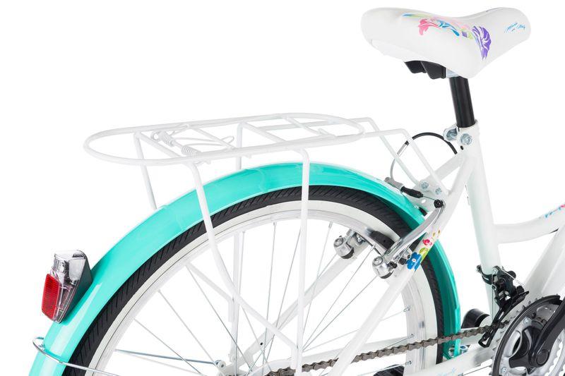 Rower 24 KANDS LAGUNA VS-1 ZWK biało-miętowy zdjęcie 8