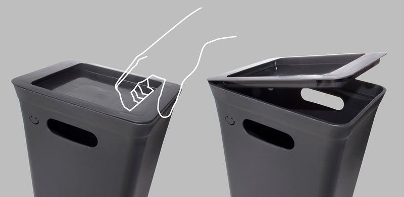 Kosz Z Pokrywą Do Segregacji Śmieci 10L Avedore PlastTeam zdjęcie 3