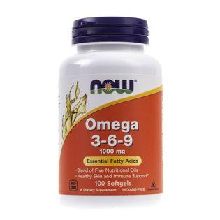 Now Foods Omega 3-6-9 100 mg - 100 kapsułek