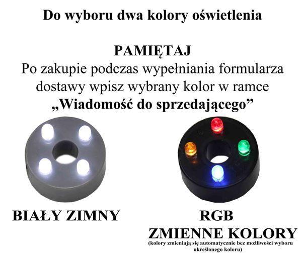 POMPA POMPKA DO FONTANNY PODŚWIETLENIE 4xLED H=65cm Q= 280l/h Moc=4W na Arena.pl