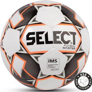 Piłka nożna Select Futsal Master IMS 2018 Hala biało pomarańczowo czarna 14258