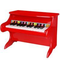 TOOKY TOY Czerwone Drewniane Pianino Muzyczne + książeczka