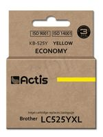 Tusz ACTIS KB-525Y (zamiennik Brother LC525Y; Standard; 15 ml; żółty)