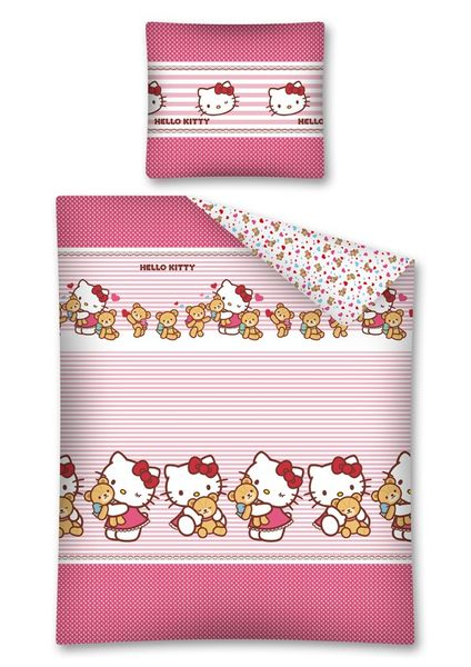 Pościel licencyjna Hello Kitty 140x200 Detexpol zdjęcie 1