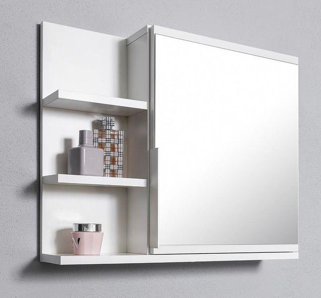 Biała szafka z lustrem do łazienki lewa, z 3 półkami, nowa zdjęcie 1