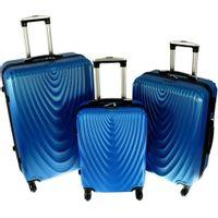 Zestaw 3 walizek PELLUCCI RGL 663 Niebieskie