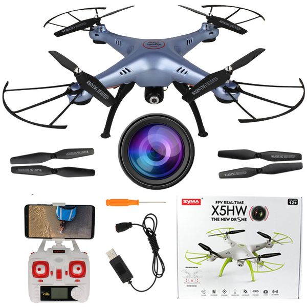 Dron Syma X5HW kamera Wi-Fi funkcja zawisu Niebieski Y142N zdjęcie 13