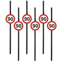 Słomki party 90 URODZINY Traffic Birthday 6 szt