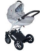 Szary wózek dziecięcy wielofunkcyjny Torero eco Tutek zestaw 3w1