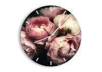 Zegar Ścienny - Róża Kwiaty Retro - 40X40 Cm - C3Ar40X40-3930