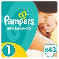 Pieluchy Pampers New Baby 1 Newborn (43 sztuki) x 6 opakowań