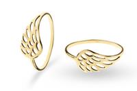 Złoty pierścionek skrzydło wings ROZMIAR - 17