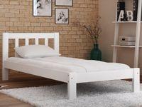 Łóżko 90x200 Wysokie Ofelia Białe /Szare+ Stelaż