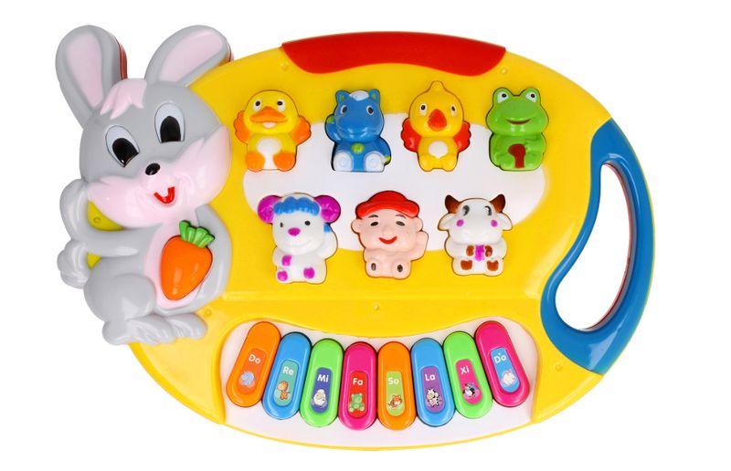 Pianino Organy dla dzieci interaktywne Królik Z349 zdjęcie 1