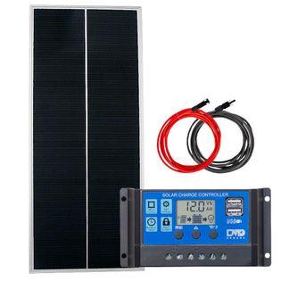 Zestaw solarny 100W 12V PWM USB