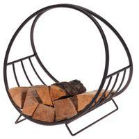Stojak na drewno kominkowe stojak metalowy czarny